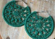 4 diseños de argollas tejidas a crochet faciles