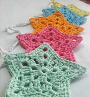 imagenes de estrellas tejida a crochet