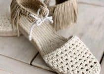 4 diseños geniales de alpargatas tejidas a crochet
