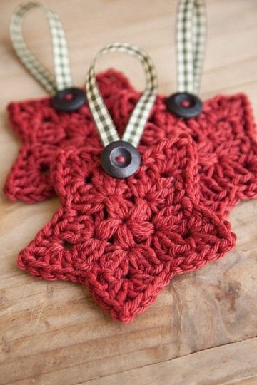 modelos de estrellas tejida a crochet