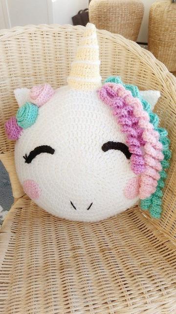originales cojines para niños a crochet