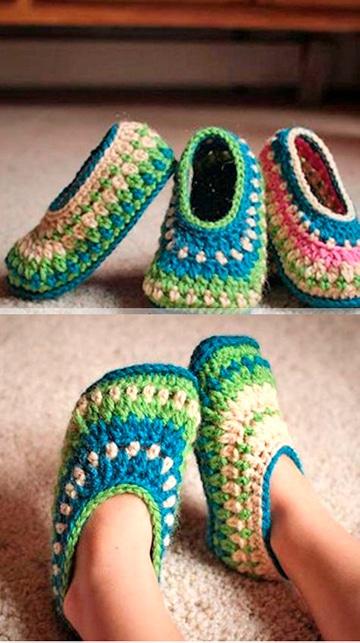 babuchas tejidas a crochet para niños