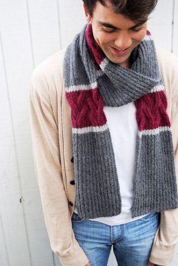 bufandas y chalinas a crochet para hombres