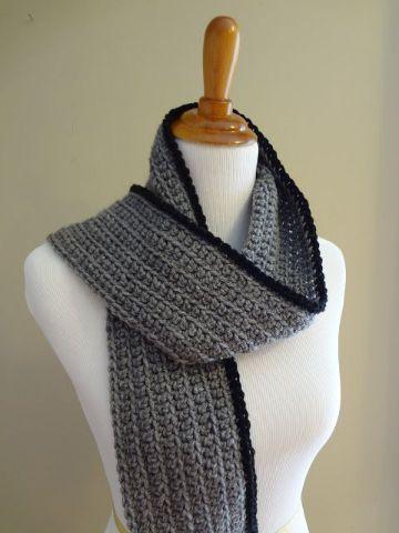 chalinas a crochet para hombres y mujeres