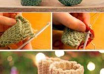 Geniales diseños 2019 en medias de navidad en crochet