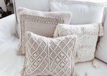 3 diseños de fundas para almohadones en crochet