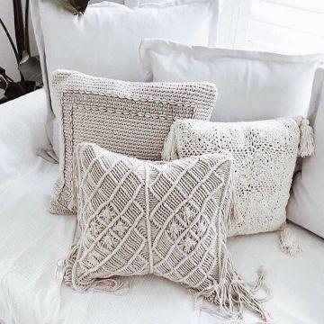 fundas para almohadones en crochet diseños