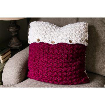 fundas para almohadones en crochet dos tonos