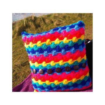 fundas para almohadones en crochet para niños