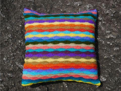 fundas para cojines a crochet niños