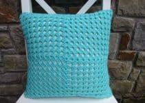 Puntos en fundas para cojines a crochet y otros 3 detalles