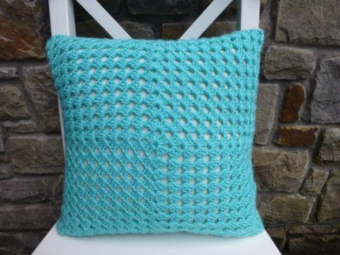 fundas para cojines a crochet sencilla