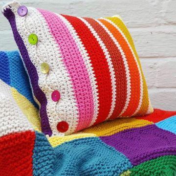 fundas para cojines a crochet y colchas