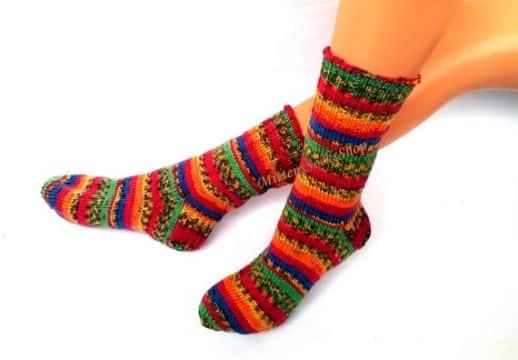 medias tejidas para niñas calcetin