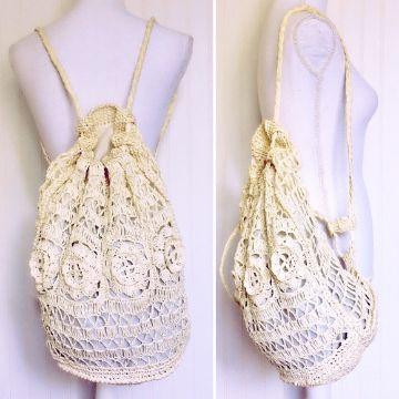 mochilas tejidas en macrame originales
