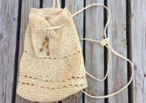 3 tamaños en mochilas tejidas en macrame faciles