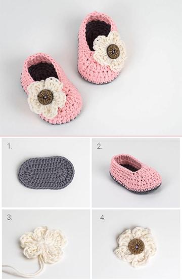 modelos de pantuflas tejidas para niña