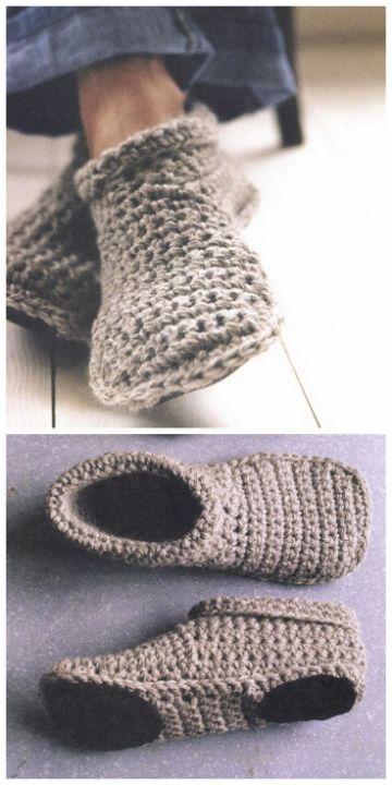 pantuflas tejidas con suela comodas