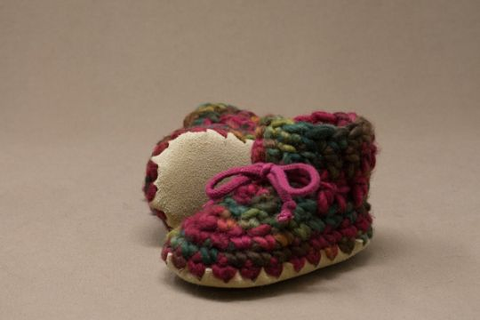 pantuflas tejidas con suela para niños