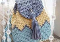 4 coloridas mochilas tejidas con totora muy sencillo
