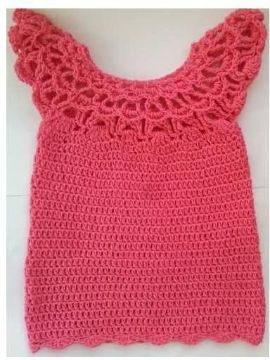 remeras a crochet para niñas verano