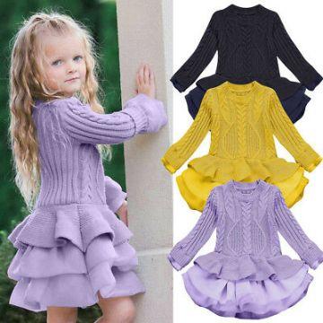 remeras a crochet para niñas y vestidos