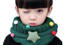 4 diseños de bufandas navideñas para niños y niñas