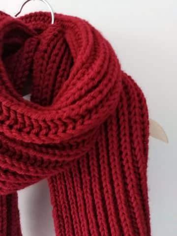 bufandas navideñas para niños puntos sencillos