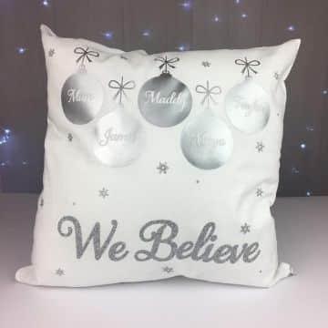 cojines decorativos de navidad con tela