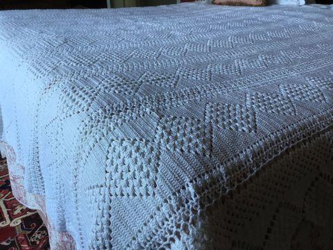 cubrecamas tejidos a crochet sencillos