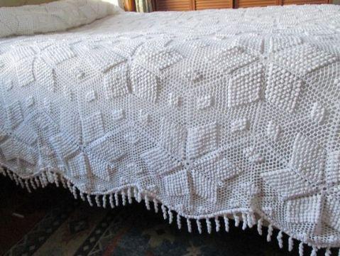 cubrecamas tejidos a crochet texturas