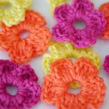 flores hechas a crochet sencillas