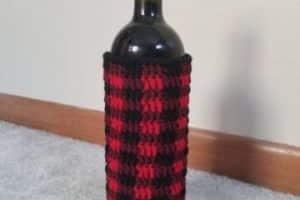 Originales fundas tejidas para botellas de 3 tamaños
