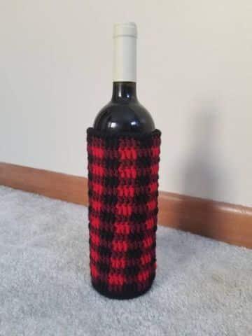 fundas tejidas para botellas para decorar
