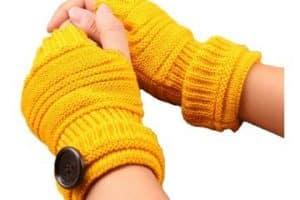 Diseños en guantes tejidos sin dedos 3 usos originales