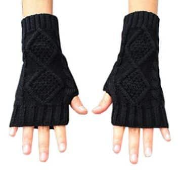 guantes tejidos sin dedos geniales