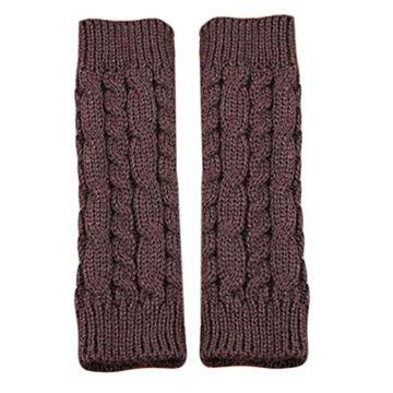 guantes tejidos sin dedos largos