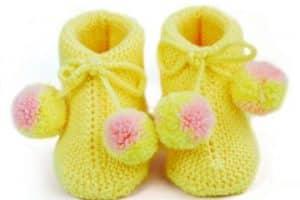 Diseños y puntos de medias de lana para bebes 2019
