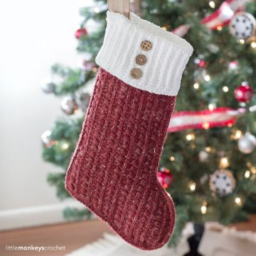 medias navideñas en crochet elegantes