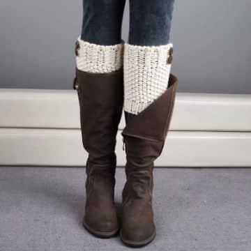polainas de lana para botas combinaciones