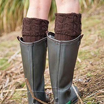 polainas de lana para botas para usar con falda