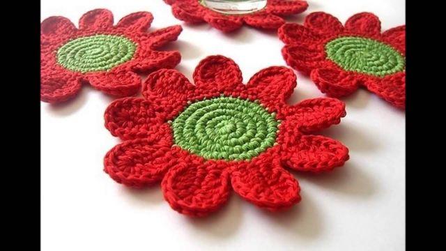 posavasos a crochet navideños flores (1)