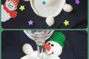 4 originales diseños de posavasos a crochet navideños
