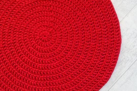 alfombras navideñas a crochet en circulo