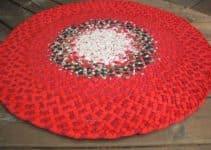Puntos y diseños en alfombras navideñas a crochet 2019