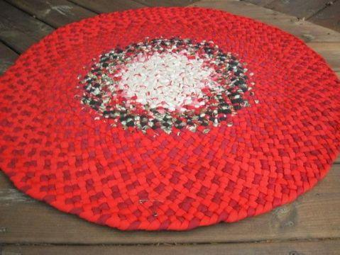 alfombras navideñas a crochet originales