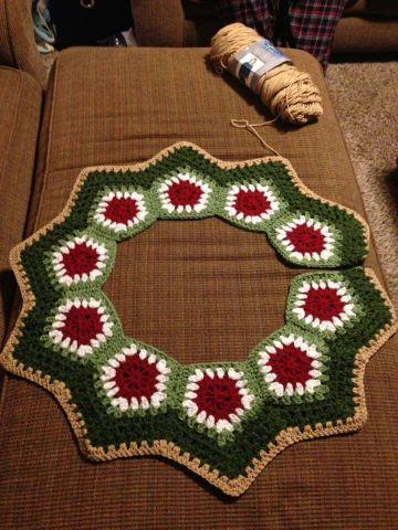 alfombras navideñas a crochet para salas