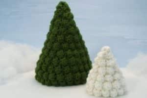 2 maneras de hacer arbolitos de navidad al crochet