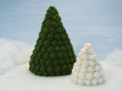 arbolitos de navidad al crochet en 3d