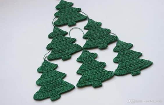 arbolitos de navidad al crochet pequeños